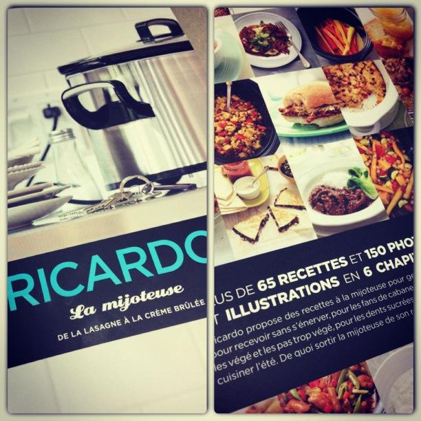 Livre recettes ricardo harnois la carte - Ricardo cuisine mijoteuse ...
