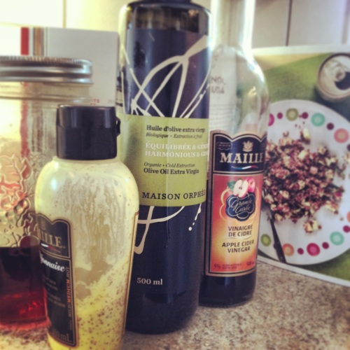 ingrédients salade quinoa