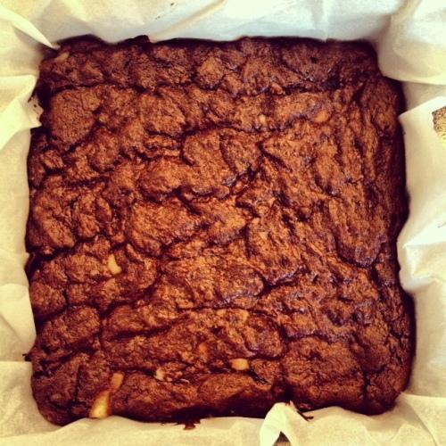 brownies après cuisson