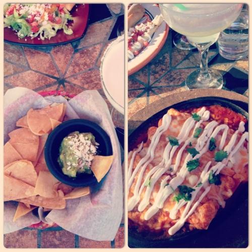 guacamole et enchiladas