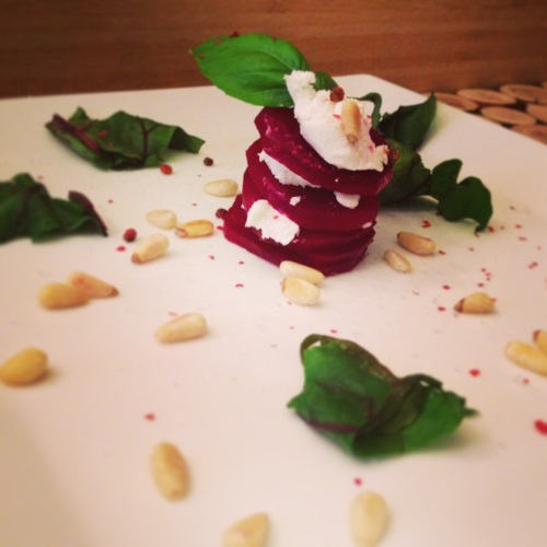 carpaccio de betteraves