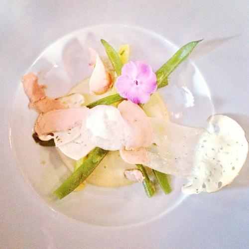 haricots et foie gras