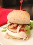 sandwich dindon, pommes, yogourt nature et miel