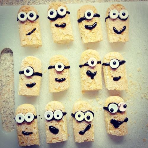 Minions en biscuits