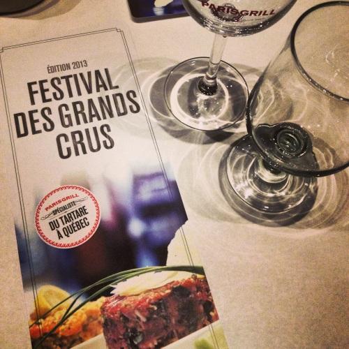 Festival Grands crus Paris Grill