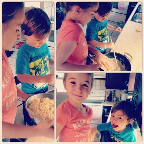 carrés rice krispies en production