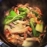 bouillon légumes et carcasses de crevettes