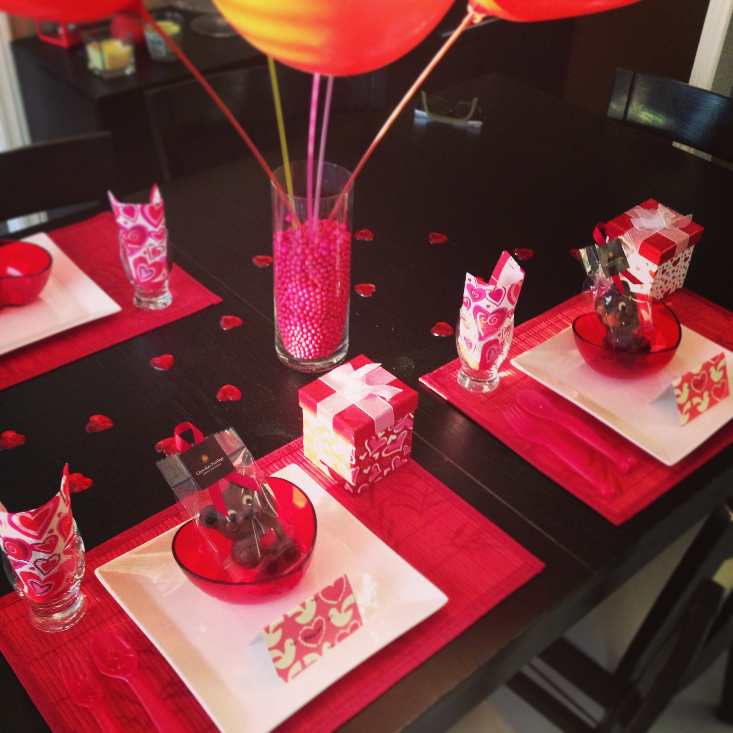 Quoi manger la st valentin harnois la carte for Decoration pour