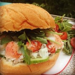 sandwich homard et bacon