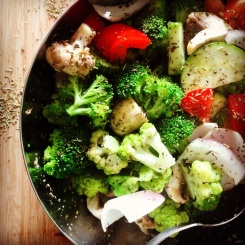 Légumes assaisonnés pour BBQ
