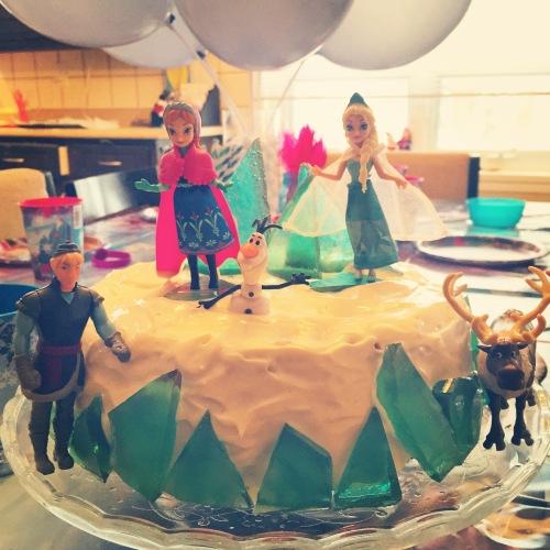 Gâteau Reine des neiges maison