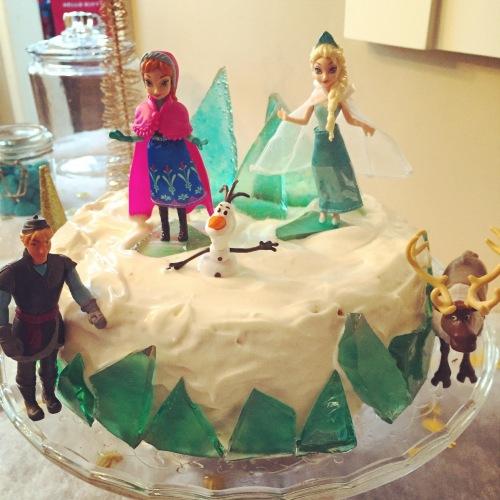 Gâteau reine des neiges fait maison