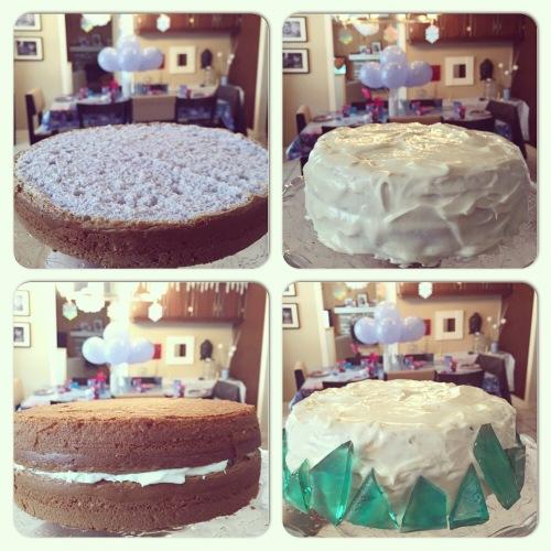 Réaliser décoration gâteau Reine des neiges