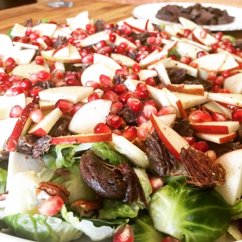 Salade de gésiers de canard confit de Marjorie