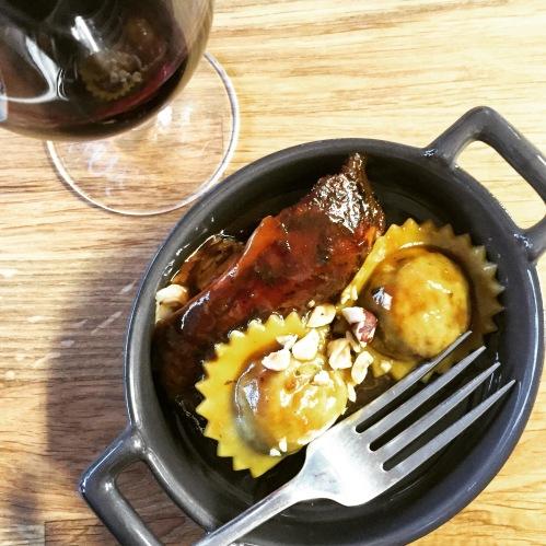 Lapin braisé vin rouge et balsamique