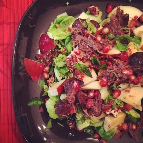 Ma salade de gésiers de canard confit Gibiers Canabec