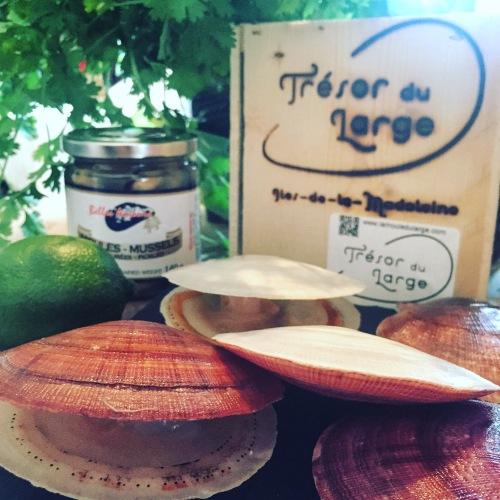 Pétoncles, huîtres et moules du Québec