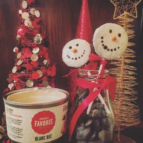 Bonhomme de neige Chocolats Favoris et Oreo
