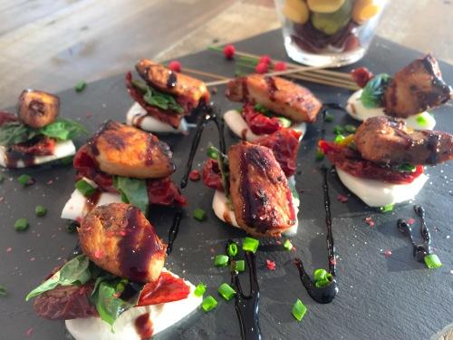 poulet bocconcini basilic tomates séchées