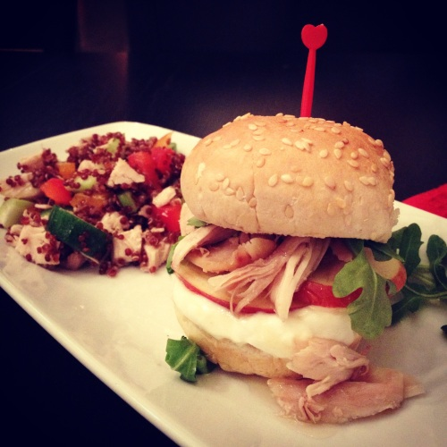 sandwich sucré-salé à la dinde