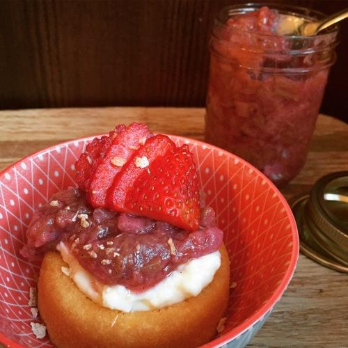 dessert facile rhubarbe